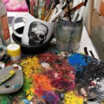 Aleshas paints and brushes